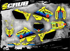 SCRUB Suzuki RM 250 2001 - 2008 Grafik Sticker Dekor-Set '01-'08