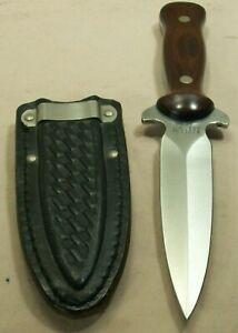 1984~WESTERN~U.S.A.~W77~BOOT DAGGER FIGHTING KNIFE w/ORIGINAL SHEATH~