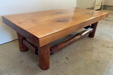 """Rustic Wood Coffee Table, 52"""" x 25.5"""", High Quality Countertop Resin"""