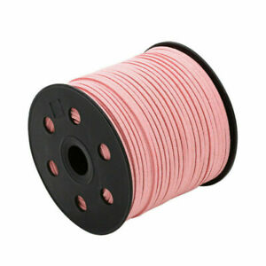 Jewelry Making Beading Thread Lace String Leather Suede Cord 3mm DIY 90m/Roll
