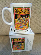 """Mary Engelbreit Boxed Christmas mug robot """"Don't Forget The Batteries"""""""