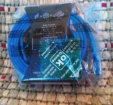Oakley Belt blank BLUE  No buckle BELT ONLY leather NEW in original packaging.