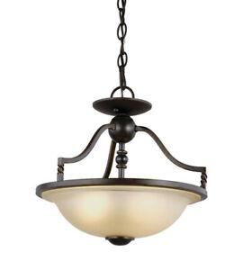 "Sea Gull 7710602EN-191 Trempealeau 2 Light 14"" Roman Bronze Convertible Light"