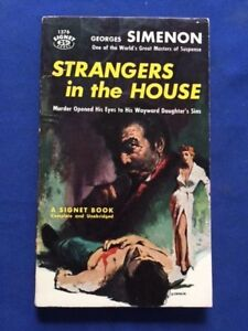 STRANGERS IN THE HOUSE - 1ST. AM PAPER ED. INSCRIBED BY SIMENON TO HIS PUBLISHER