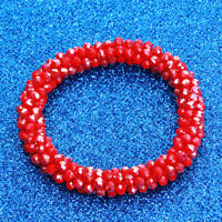 Multicolor Nepal Crystal Glass Seed Bead Roll Crochet Nepal Handmade Bracelet D