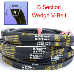 Universal B Section V Belt Drive belts Sizes B46~B119 For Industrial Lawn Mower
