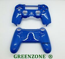 Blue Solid Custom Replacement Shell Mod Kit for Playstation 4 PS4 Controller
