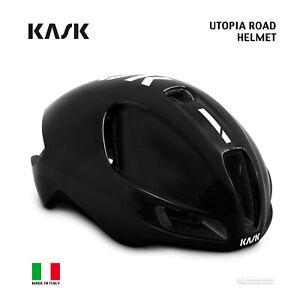Kask UTOPIA Aero Road Cycling Helmet : BLACK/WHITE