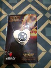 The Hunger Games Mockingjay Heart 2016 Gold Toned Variety Heart Pin.