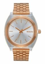 **BRAND NEW** NIXON WATCH THE TIME TELLER ACETATE ROSE GOLD / CLEAR A3272628 NIB