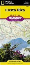 Costa Rica Adventure Travel Map Topographic Waterproof National Geographic