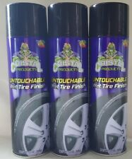 3 Cristal Wet Tire Spray Cans 13oz ea Shines & Protect Ever Gloss Finish Cherry