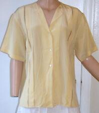 Vintage 1940s-50s Silk Blouse With Lattice Work Details Size M/L D1-20
