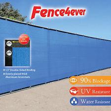 Blue 8'x50' Fence Privacy Screen Windscreen Shade Cover Mesh Fabric Tarp Pool