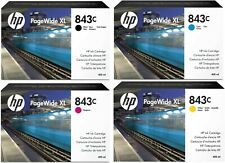 GENUINE HP843C INK CARTRIDGES, CHOICE OF 4 COLOURS IN LOT – SWIFTLY POSTED