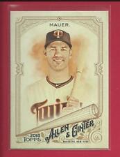 Joe Mauer  2018 Topps Allen & Ginter Card # 306  Minnesota Twins Baseball MLB