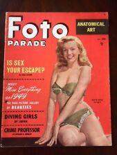 "1949 Marilyn Monroe, ""FOTO PARADE"" Magazine (Scarce) (No Label) (Early Monroe!!)"