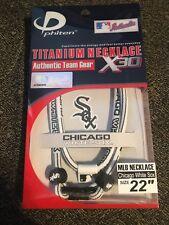 "*New* Phiten 22"" Chicago White Sox Titanium Multi Sport Necklace X30"