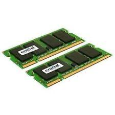 Crucial 4 GB ( 2 X 2GB) SO-DIMM 667 MHz PC2-5300 DDR2  Memory CT2KIT25664AC667 …
