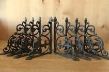 "8 BROWN ANCHOR THEMED SHELF BRACKETS 9"" ANTIQUE STYLE CAST IRON nautical boat"