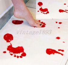 Blood Footprint Mat Non-slip Bath Shower Floor Door Pad Cushion For Bathroom