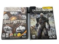 War games Rise of Nations and Enemy Enemy Territory: Quake Wars Lot of 2