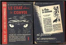 POLICE ET CONTRE-ESPIONNAGE  Série Complète 6 n°   1949-1950   RARE