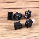 5Pcs Interrupteur à Bascule Petit ON / OFF IO SPST 2 Broches AC 250V/ 3A 125V/6A