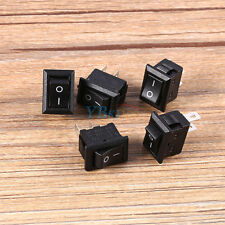 5Pcs Interrupteur à Bascule Petit ON / OFF IO SPST 2 Broches AC 250V/ 3A 125V/6A