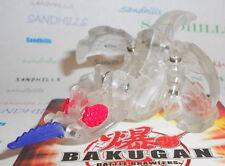Bakugan Moskeeto Clear Navy Stinger B3 Bakucrystal 670G & cards