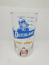 Vintage advertising measuring glass - Dutchland Dairy Stores (1381)