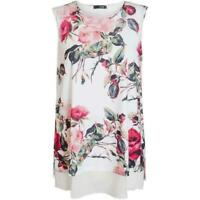 NEW RRP £22.99 Quiz Cream Red Floral Print Top                             (B11)
