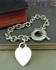 Tiffany & Co. 925 Heart Tag Toggle Bracelet in Sterling Silver