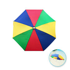 "Sun Protection Rainbow Beach Umbrella - Yellow Red Green Blue (80"" (40"" R))"