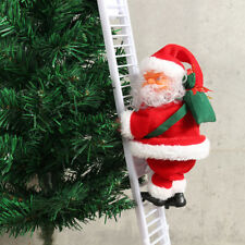 UK Musical Climbing Ladder Santa Claus Christmas Xmas Figurine Ornament Decor