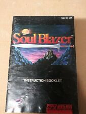 Soul Blazer SNES Super Nintendo Instruction Manual Only Rare Good Freeshipping