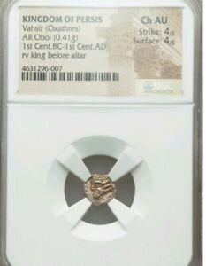 Kingdom Of Persis Vahsir Obol Choice AU 4/4 Ancient Silver Coin NGC Pop 1