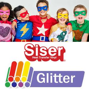 Siser Glitter Heat Transfer Vinyl (HTV) for Silhouette Cameo, Cricut, Brother