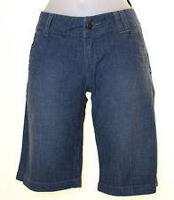 "Bnwt Women's Oakley Independence Stretch Denim Shorts UK4 W25"" Blue New"