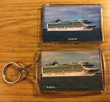 P&O Cruises AZURA Photo Key Ring & Fridge Magnet Set Cruise Ship Liner