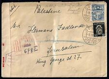 LATVIA PALESTINE 1940 WARTIME CENSORED COVER RIGA TO JERUSALEM DATED 8.10.40