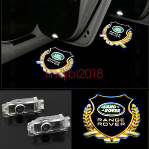 2X Projector Ghost Shadow Lights Door Logo For Land Rover Discovery Range Rover