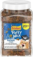 Friskies Party Mix Adult Cat Treats Canisters – Real Ocean Whitefish 20 oz