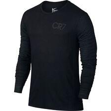 Nike Mercurial Cr Cristiano Ronaldo Cr7 2017 Crew Long Sleeve Shirt Soccer Black