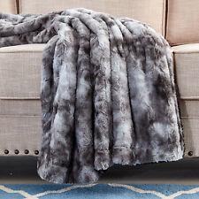 Xmas Gift Faux Fur Bed Twin Blanket - Super Soft Fuzzy Cozy Warm Fluffy 60X80
