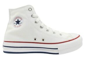 Scarpe donna Converse all star 671108C sneakers alte platform tela chuck taylor