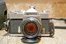 Vintage 1960s Konica Hexanon Autoreflex Camera T 57 mm F 1.4, Case & Strap