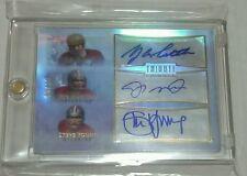 2010 Topps Tribute #TA-TMY Y.A. Tittle Joe Montana Steve Young Triple Auto 10/10