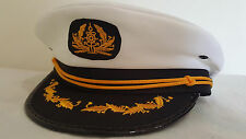 Sea Sailor Captain Cap Hat Navy Skipper Fancy Dress Accessaries Costume