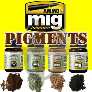 Ammo by MIG Jimenez 35ml Modeling Pigments All Colors Free Shipping at $35+